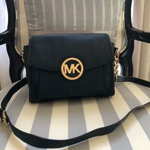 Michael Michael Kors Leather Flap Crossbody